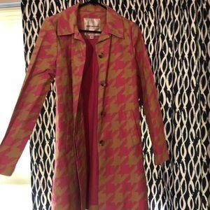 Houndstooth women's  trench coat